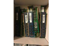 Ram Memory sticks 1gb 2gb 4gb job lot all sorts - 23 in box