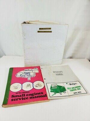 Vintage Lot Tecumseh Briggs Stratton Badger Small Engines Service Manuals 70s