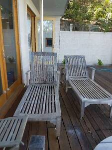 Two Teak Recliners Seaforth Manly Area Preview