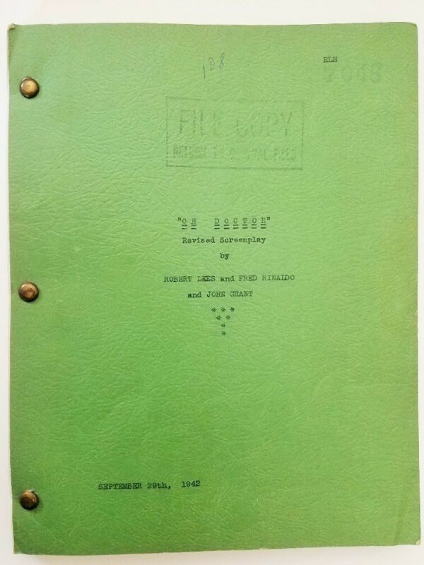 ABBOTT AND COSTELLO Hit The Ice/1943 Revised Screenplay