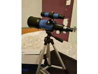 70mm 2.3 inch refractor telescope on tripod