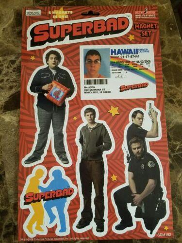 Superbad Magnet Set Of 6 Great Movie With FREE McLovin Air Freshener 3.99 Saving
