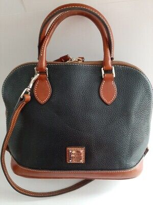 Dooney & Bourke Zip  Zip Satchel Pebbled Leather Handbag