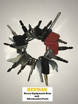 18 Keys Heavy Equipment Construction Ignition Key Set