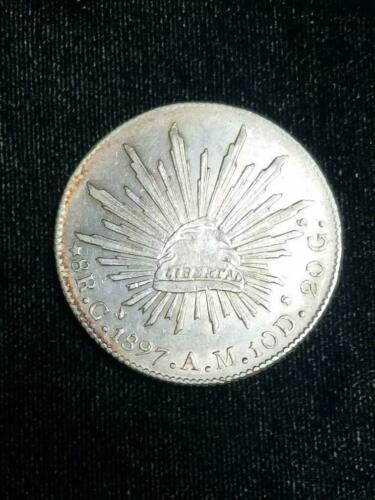 1897 CN Mexico Silver 8 reales NICE CONDITION