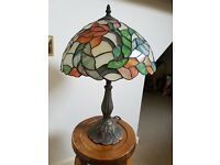 Tiffany lamp with metal base