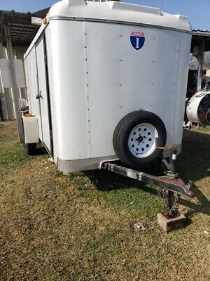 Used White 2013 Enclosed Cargo Trailer In Good Condition