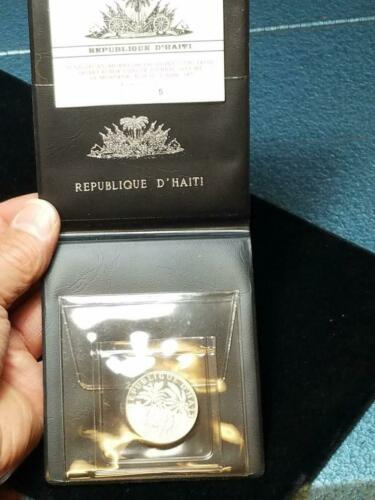 1971 Haiti 5 Gourdes Proof in Original Packaging Haitienne Paradise