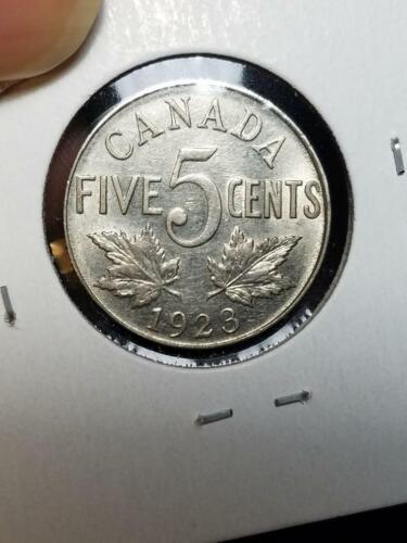 1923 Canada 5 Cents Nice AU