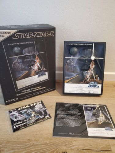 """Star Wars 3D Poster """"A New Hope"""", CODE3 Limited Edition #854/3000"""