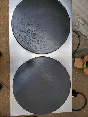 Equipex 400ed 15.75 Double Crepe Maker W Cast Iron Plates 240v1ph