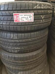 RITC ALL SEASON T2  16225/55R18  98T TAKEOFF MICHELIN DEFENDER  9/323112 $700.00