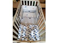 Mothercare cot, mattress and bedding set