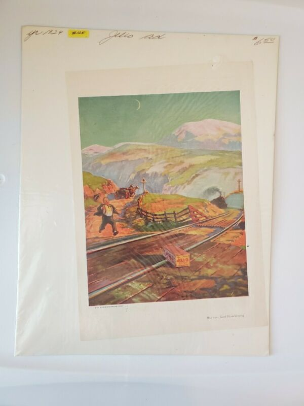 1924 VINTAGE  JELL-O  Advertising art print.