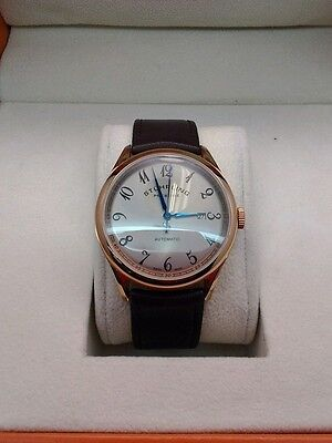 Stuhrling Prestige Cuvette Swiss Made Automatic Mens Classic Watch Rose Gold NEW