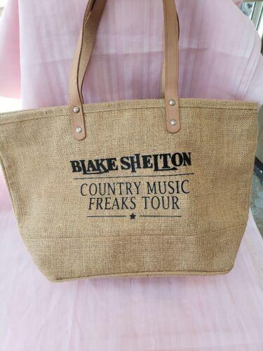 Blake Shelton 2018 Country Music Freaks Tour burlap tote bag