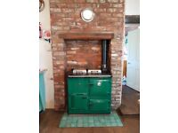 Rayburn Royal GDO Green Gas Cooker 2 Ovens Very Good working Condition