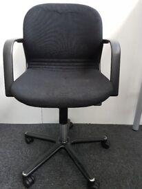 Black Task Operator Swivel Office Study Home Chair
