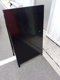 A-Frame Pavement Advertising Sandwich Board Metal Black Finish