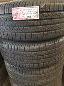 RITC ALL SEASON T2  14 .. 265/65R18   112T  TAKEOFF  GOODYEAR ASSURANCE  CS FUELMAX  11/32 3313  $800.00