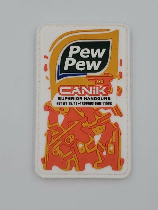 CANIK Pew Pew SHOT SHOW Low Production pvc morale patch 2020 Large