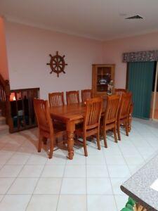 9 piece dining suite