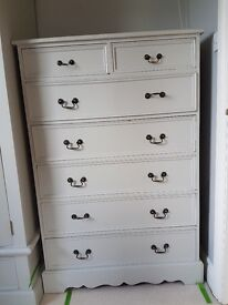 2no Solid Hardwood Draw Chest