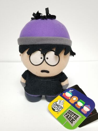 "Fun-4-All Plush 7"" Goth Stan South Park 2004 brand new mint Cartman Kyle Kenny"
