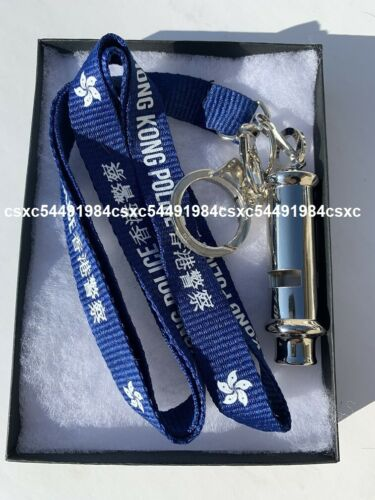 Stainless Steel Whistle & Neckstrap #2 - Hong Kong Police neckstrap & whistle