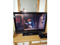 "WHARFEDALE 42"" FLAT SCREEN TV IN PERFECT WORKING CONDITION WITH WALL MOUNTING BRACKETS AND STAND,"