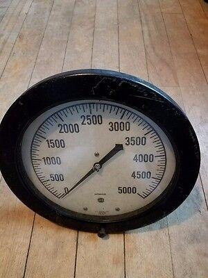 8 12 Hydraulic Pressure Gauge - Large Dial Test Gauge 0-5000 Psi