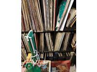 100s of records 2 shelving units full. Job lot total bargin