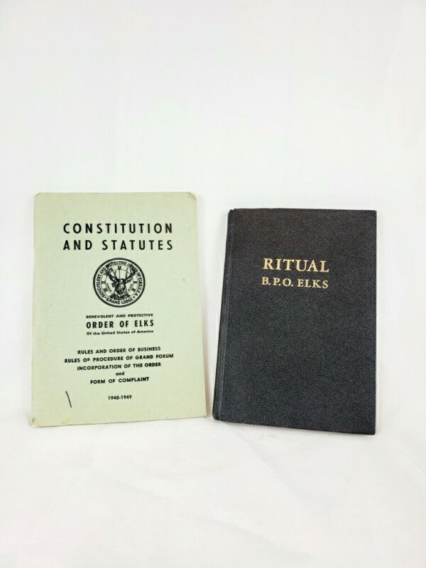 ELKS 1963 Ritual Book and Constitution Benevolent and Protective Order of Elks