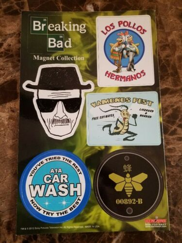 Breaking Bad 6 PC Magnet Collection Set Great T.V. Show