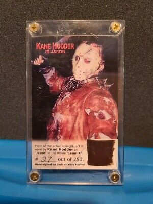 KANE HODDER JASON X SIGNED actual piece of straight jacket!