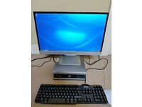 Dell OptiPlex 760 mini desktop PC and flat screen LCD monitor Windows 7
