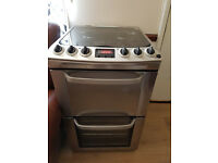 Electrolux Gas cooker with electric ignition, 4 rings, digital display. 55 cm wide, Delivery
