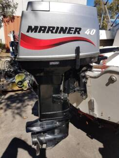 2002 Mariner 40hp Two Stroke Tiller Immaculate condition