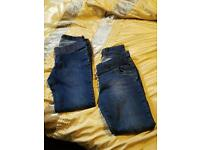 2 pairs maternity jeans