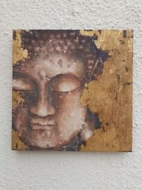 Buddha Wall Art Canvas Painting Prints Pictures Home Decor Frameless 25 x 25 cm
