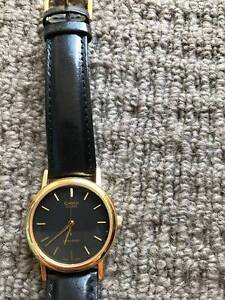 Casio Genuine Leather Black and Gold Watch Campbelltown Campbelltown Area Preview