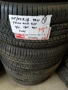RITC TAKE OFF .. B11  8	215/50R18         92V	TAKEOFF	YOKOHAMA AVID S34	9/32	1815	4	$650.00