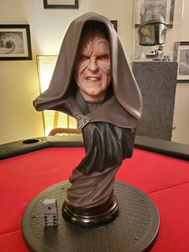 Darth Sidious Legendary Scale Bust Sideshow Star Wars Emperor VERY RARE!