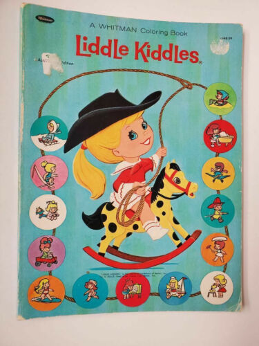 Vintage Whitman Liddle Kiddles Coloring Book 1968 Unused Color Dot to Dot  VGC
