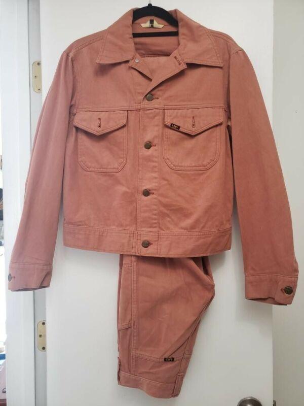 Original Vintage Lee  Boot Cut Flare Bell Bottom Pants and Jacket set 70s