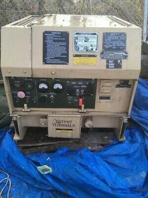 Mep-831a 3kw Diesel Generator Set Tactical Quiet Military Surplus 37 Hours