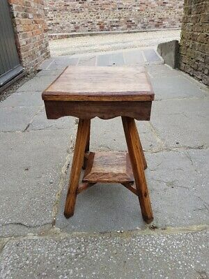 Antique handmade rustic oak stool