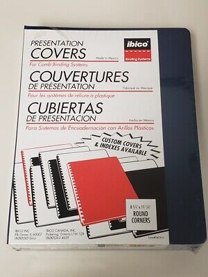 Presentation Covers For Comb Binding Systems Executive Oversize Navy 100 Sets