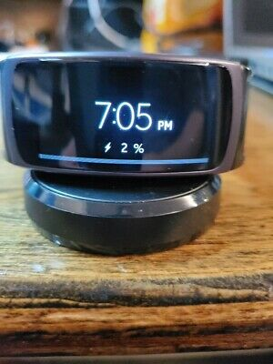 Samsung Gear Fit2 SM-R360 Smartwatch Black Excellent Condition Custom Metal Band