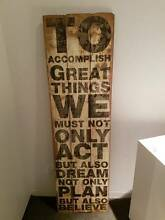 Wooden Motivational Home Decor Piece priced to sell Prahran Stonnington Area Preview